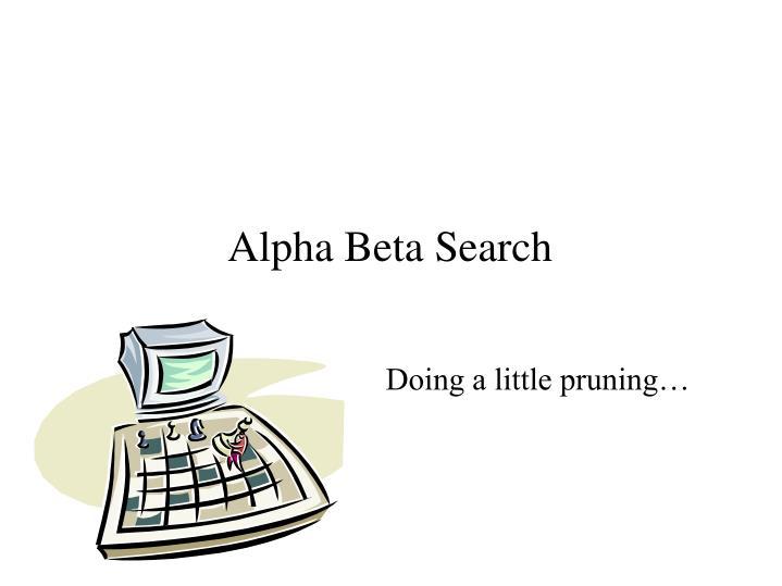 Alpha Beta Search