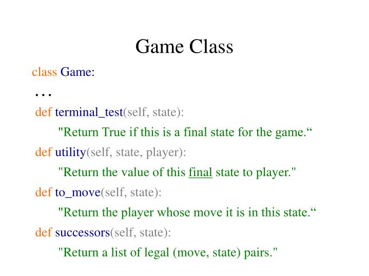 Game class