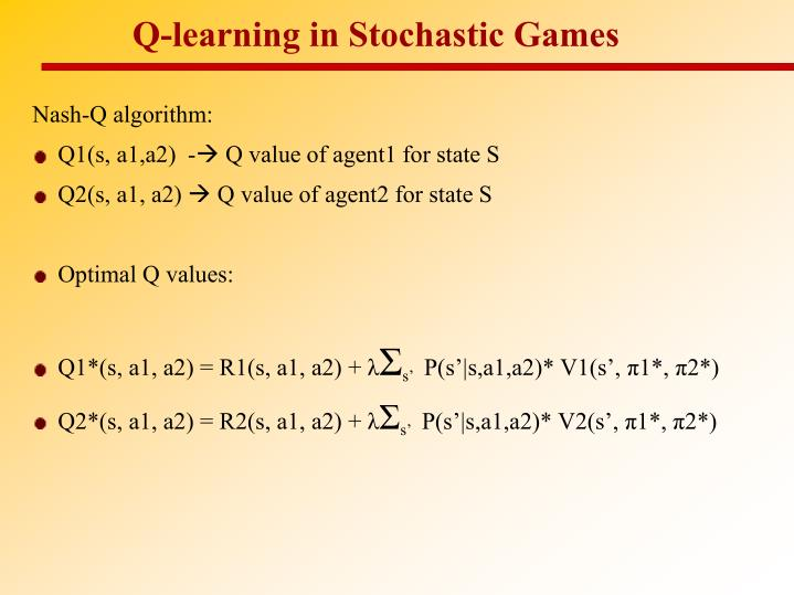 Q-learning in Stochastic Games