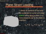 plane strain loading