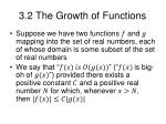 3 2 the growth of functions
