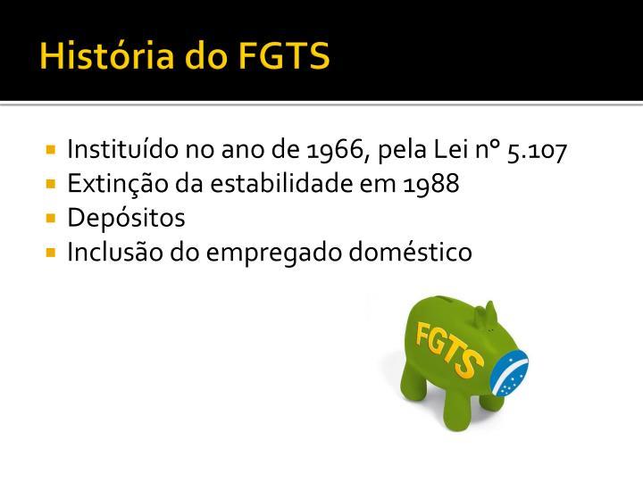 História do FGTS