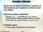 example n queens