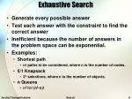 exhaustive search1