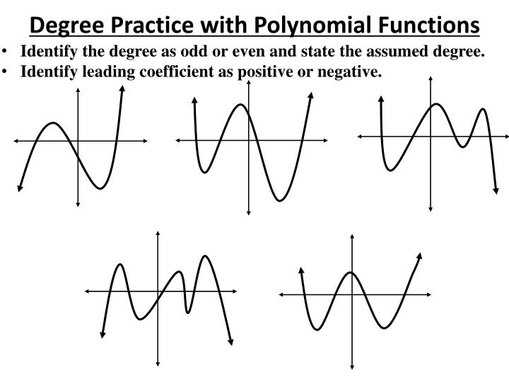 Degree Practice with Polynomial Functions