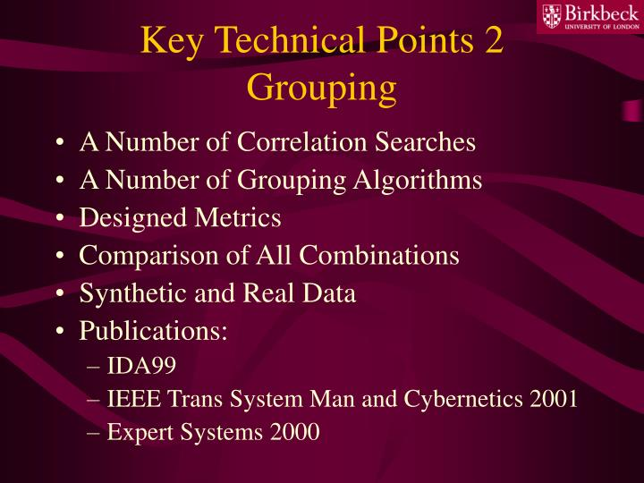 Key Technical Points 2