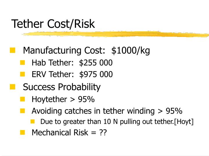Tether Cost/Risk