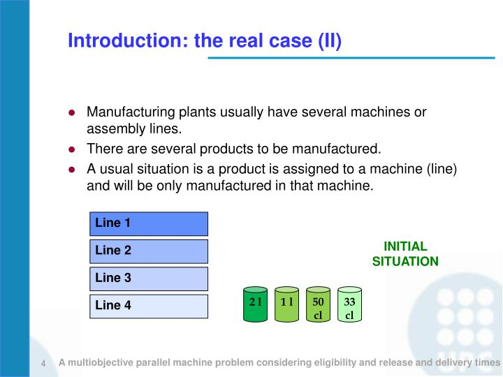 Introduction: the real case (II)