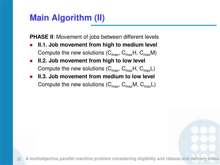 Main Algorithm (II)