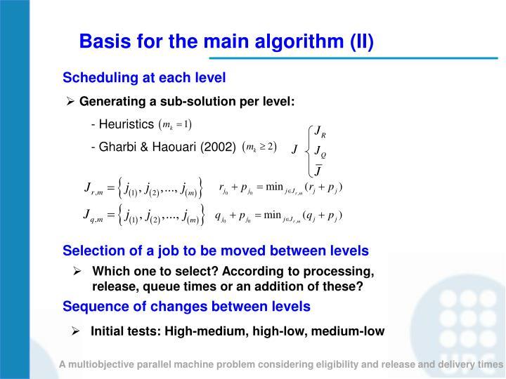 Generating a sub-solution per level