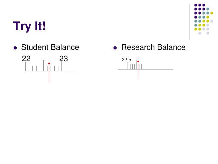 Student Balance