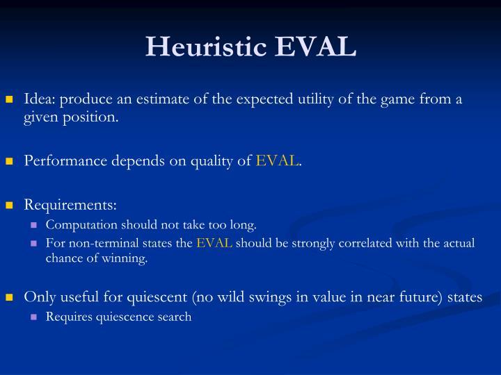 Heuristic EVAL