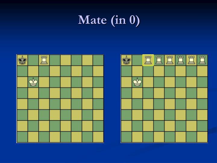 Mate (in 0)