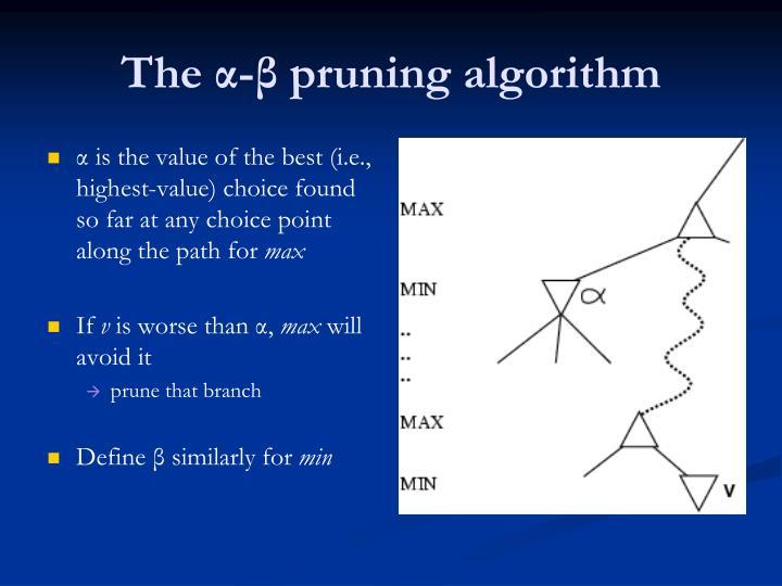 α is the value of the best (i.e., highest-value) choice found so far at any choice point along the path for