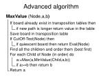 advanced algorithm
