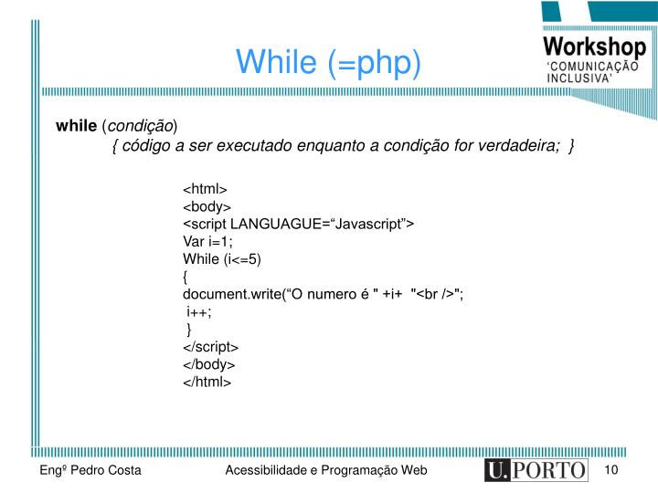 While (=php)