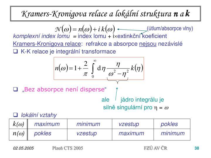 Kramers-Kronigova relace a lokální struktura
