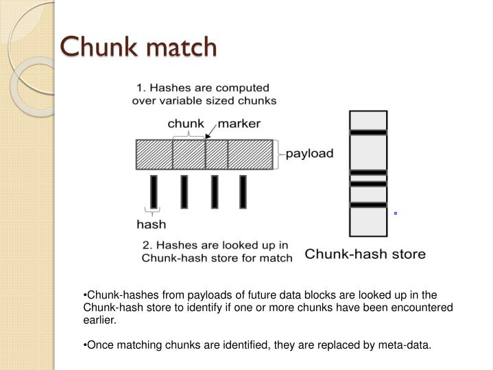 Chunk match