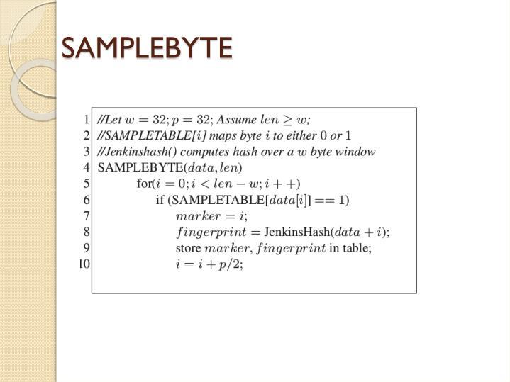 SAMPLEBYTE