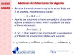abstract architectures for agents