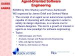 agent oriented software engineering