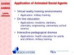 application of animated social agents