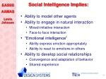 social intelligence implies