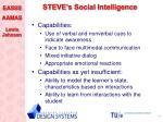 steve s social intelligence