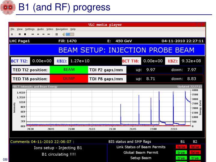 B1 (and RF) progress