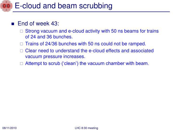 E cloud and beam scrubbing