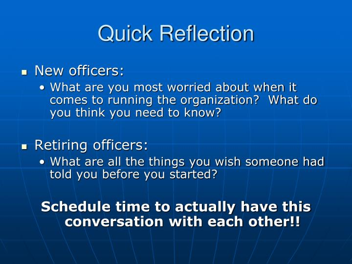 Quick reflection