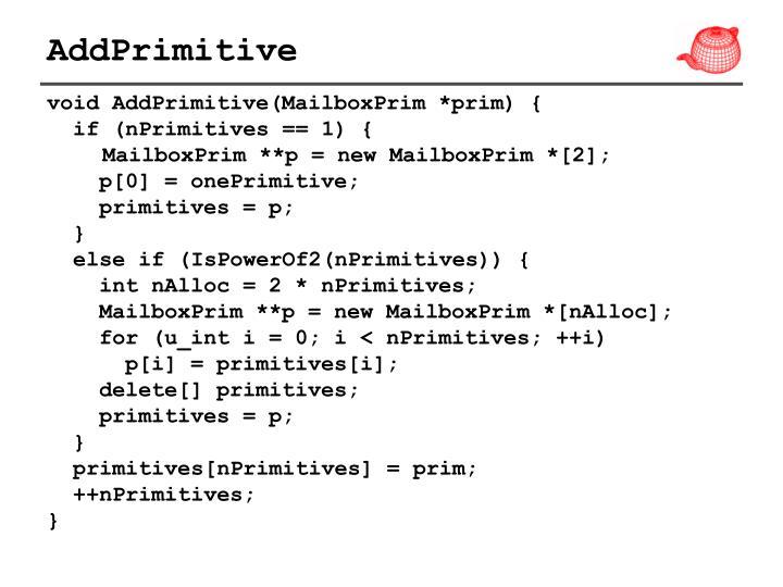 AddPrimitive