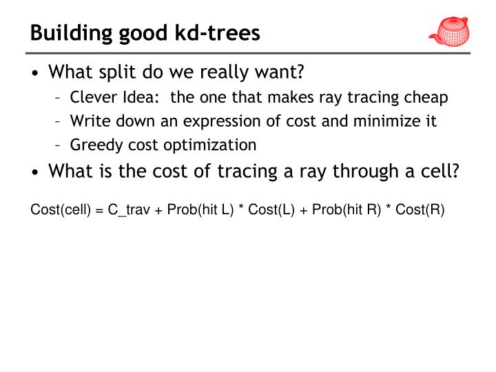 Building good kd-trees