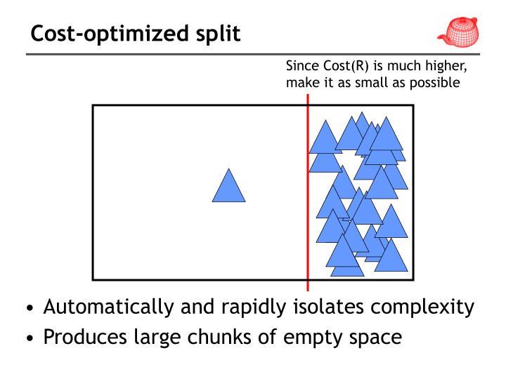 Cost-optimized split