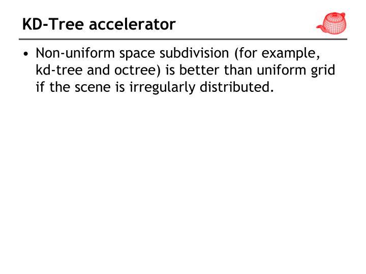 KD-Tree accelerator