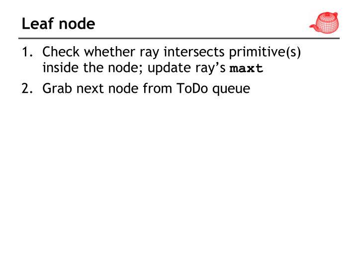 Leaf node