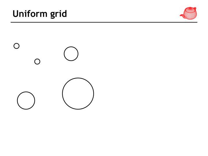 Uniform grid