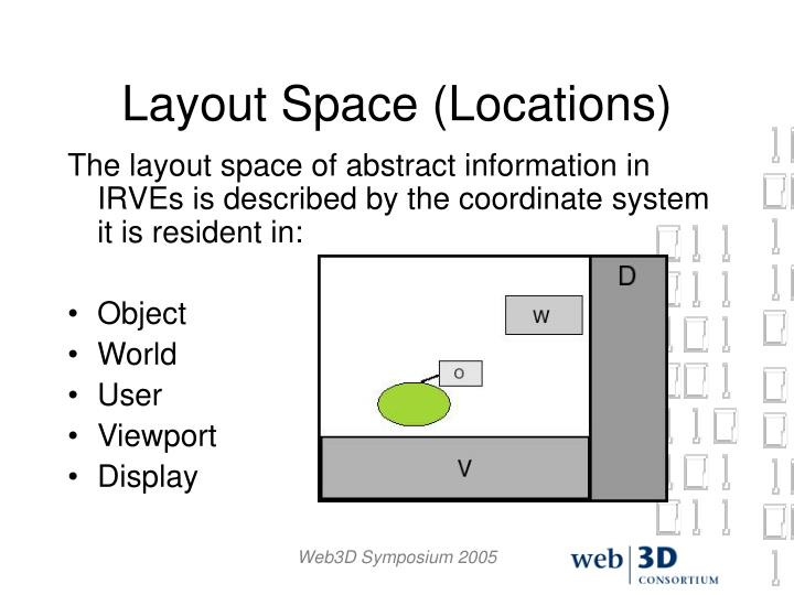 Layout Space (Locations)