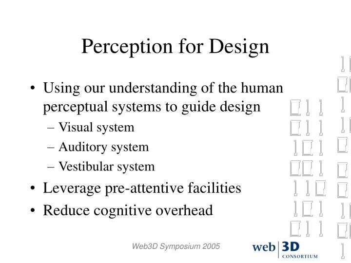 Perception for Design