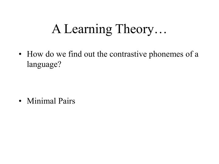A Learning Theory…