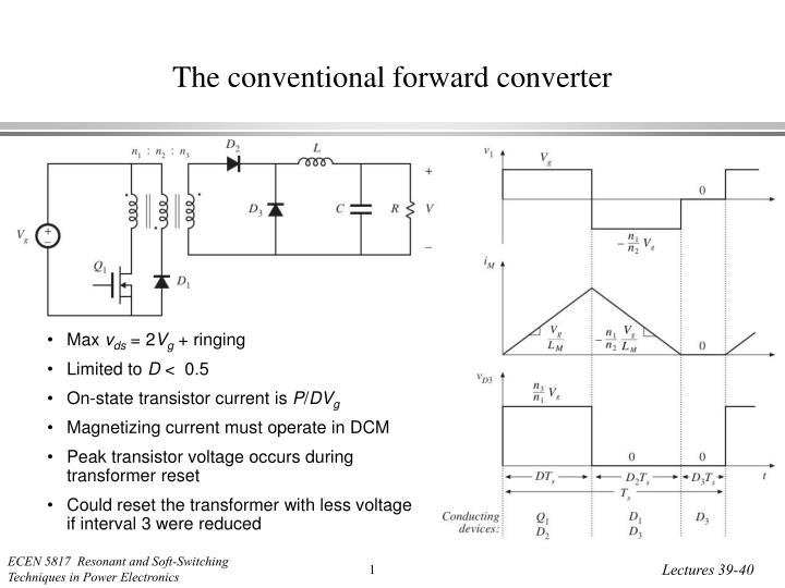 the conventional forward converter n.