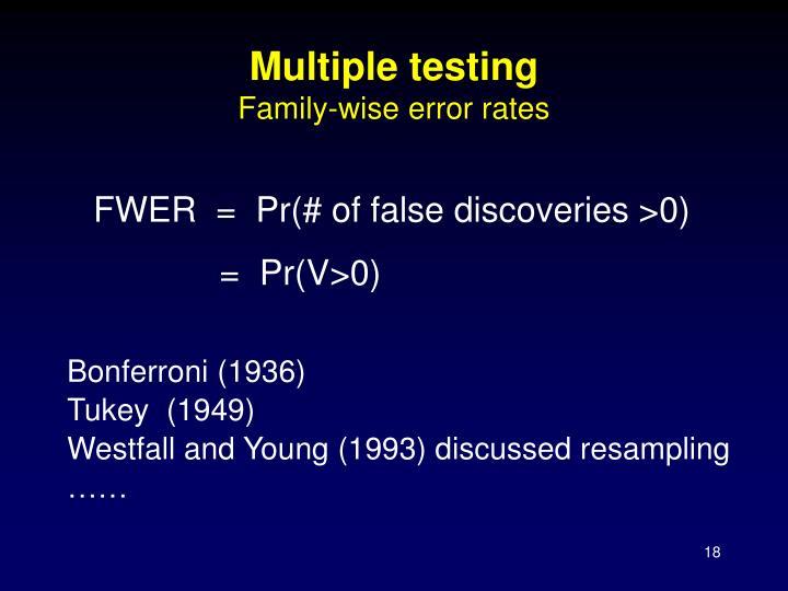 Multiple testing
