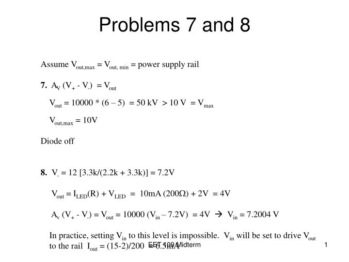 Problems 7 and 8