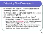 estimating size parameters