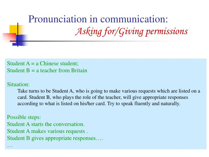 Pronunciation in communication:
