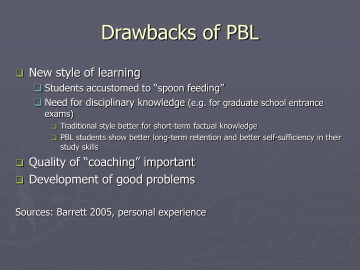 Drawbacks of PBL