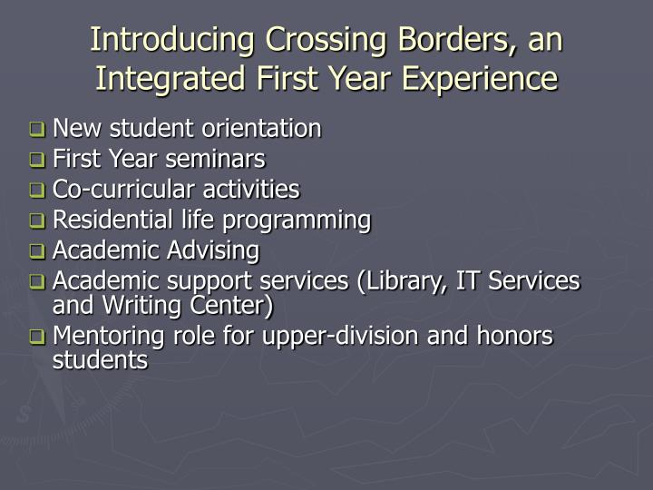 Introducing Crossing Borders,