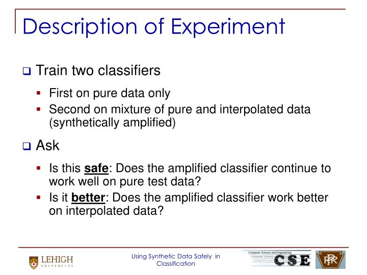 Description of Experiment