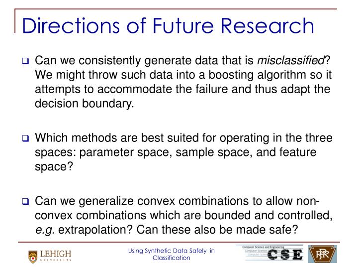 Directions of Future Research