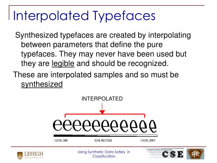 Interpolated Typefaces